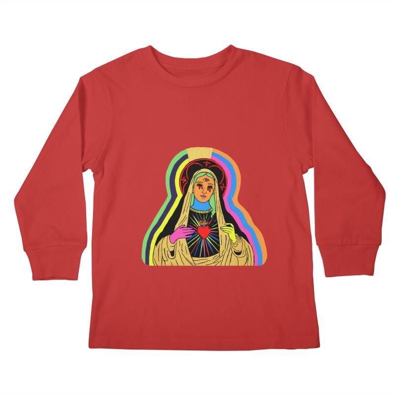 Hail Mary Kids Longsleeve T-Shirt by Hate Baby Artist Shop
