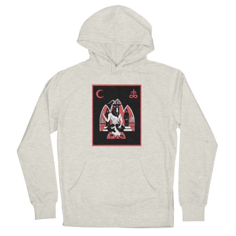 HAIL SATAN Women's French Terry Pullover Hoody by Hate Baby Comix Artist Shop