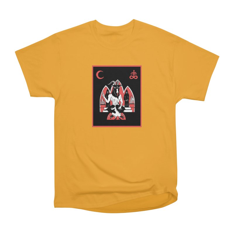 HAIL SATAN Women's Heavyweight Unisex T-Shirt by Hate Baby Comix Artist Shop