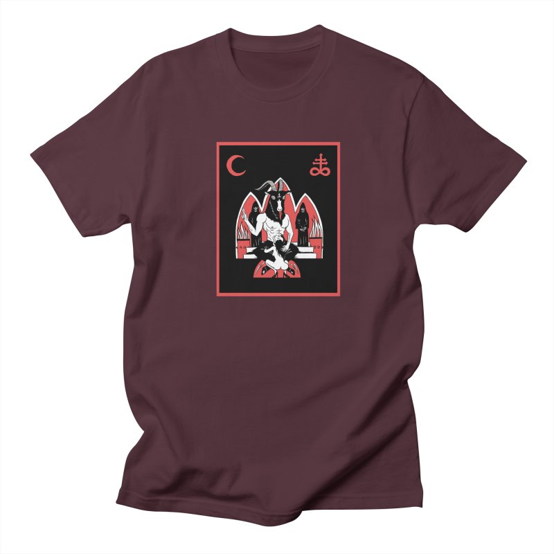 HAIL SATAN Men's Regular T-Shirt by Hate Baby Comix Artist Shop