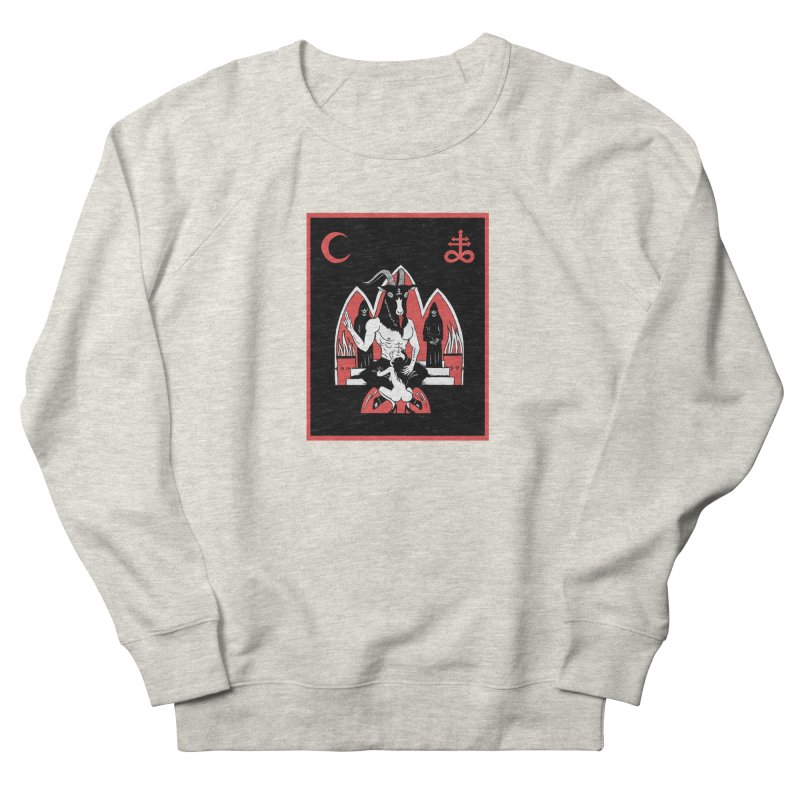 HAIL SATAN Men's French Terry Sweatshirt by Hate Baby Comix Artist Shop