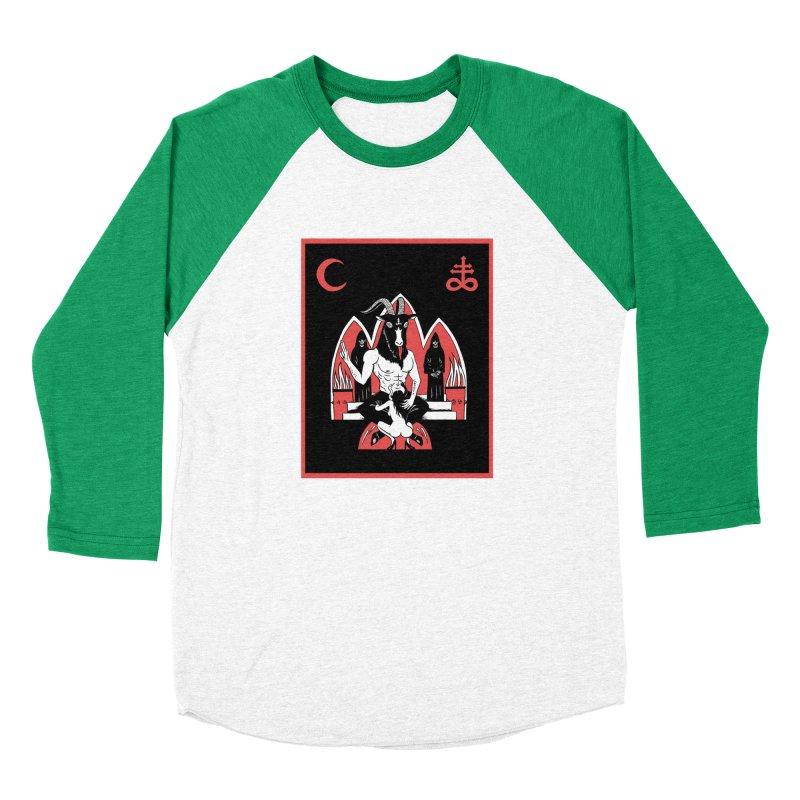 HAIL SATAN Women's Baseball Triblend Longsleeve T-Shirt by Hate Baby Comix Artist Shop