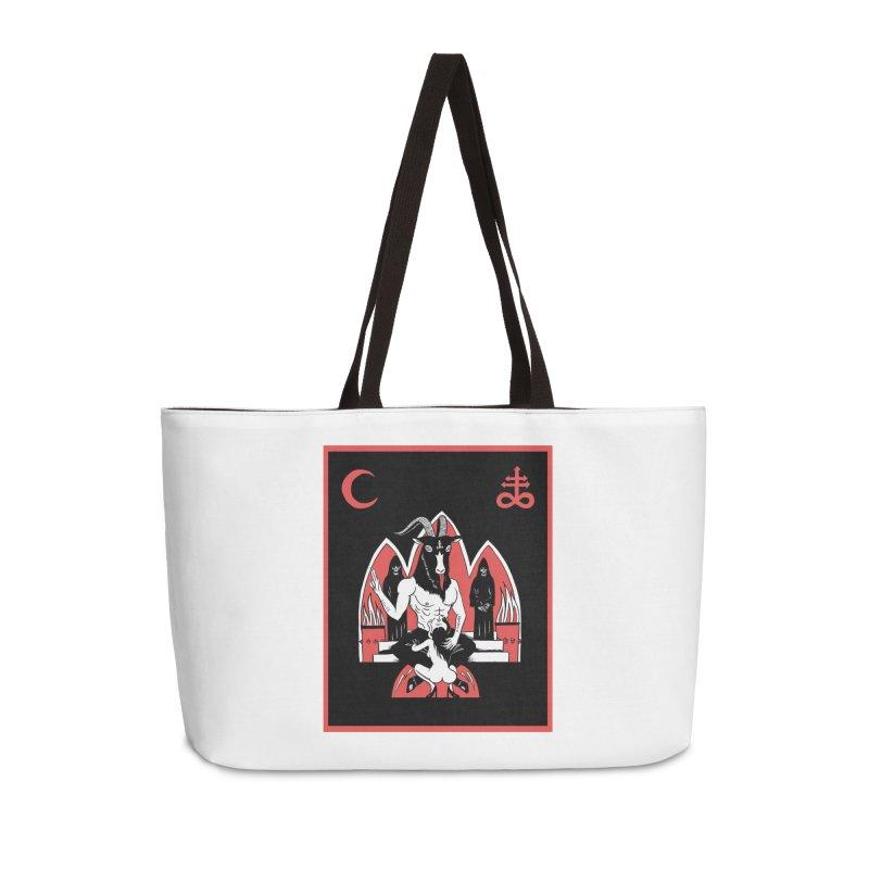 HAIL SATAN Accessories Weekender Bag Bag by Hate Baby Comix Artist Shop