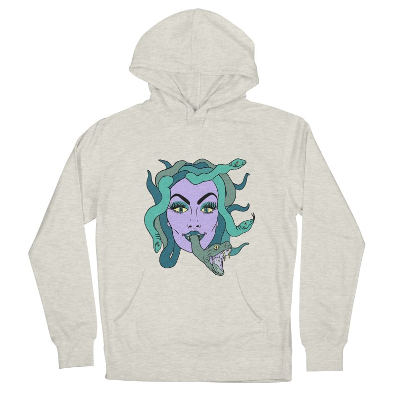 MEDUSA Women's French Terry Pullover Hoody by Hate Baby Comix Artist Shop
