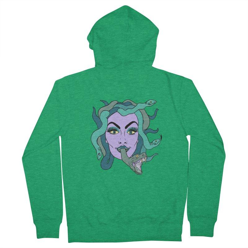 MEDUSA Women's Zip-Up Hoody by Hate Baby Comix Artist Shop