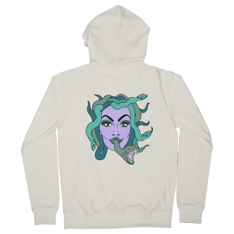 MEDUSA Men's French Terry Zip-Up Hoody by Hate Baby Comix Artist Shop