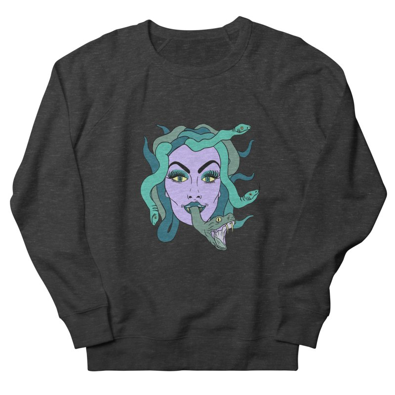 MEDUSA Women's French Terry Sweatshirt by Hate Baby Comix Artist Shop