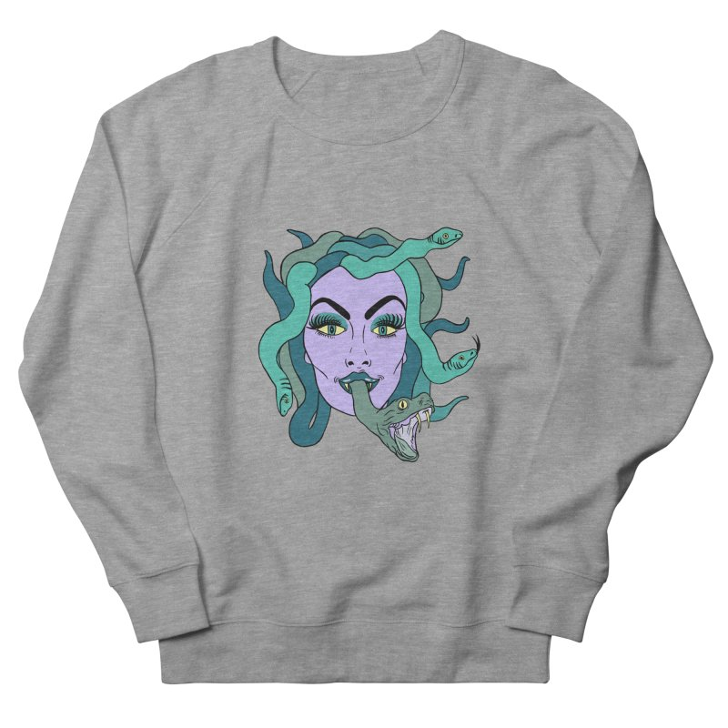 MEDUSA Men's French Terry Sweatshirt by Hate Baby Comix Artist Shop