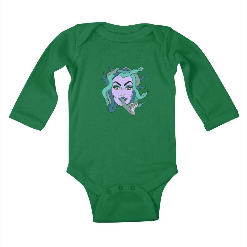 MEDUSA Kids Baby Longsleeve Bodysuit by Hate Baby Comix Artist Shop