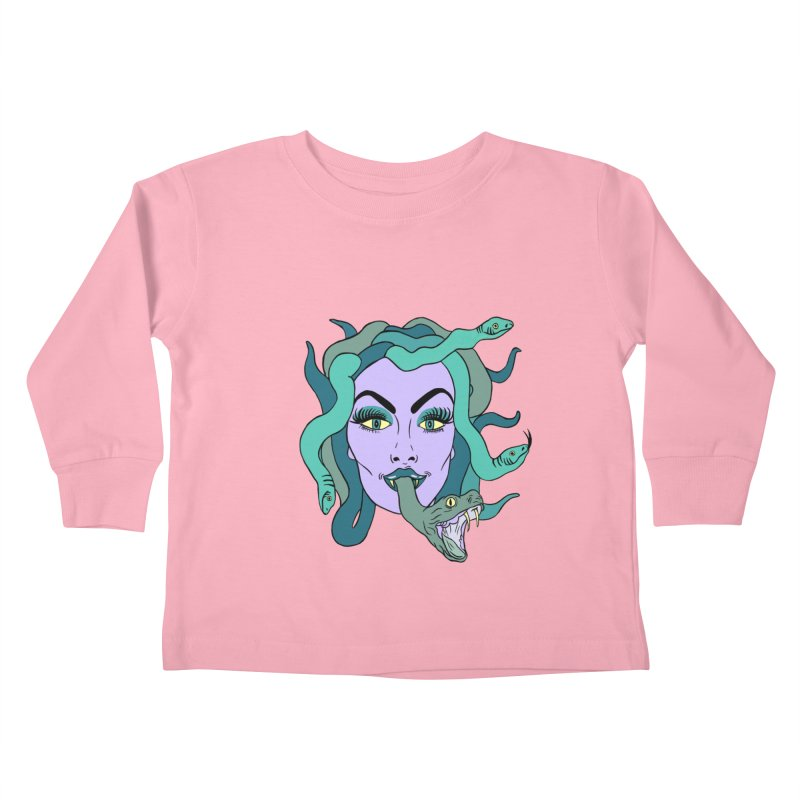 MEDUSA Kids Toddler Longsleeve T-Shirt by Hate Baby Comix Artist Shop