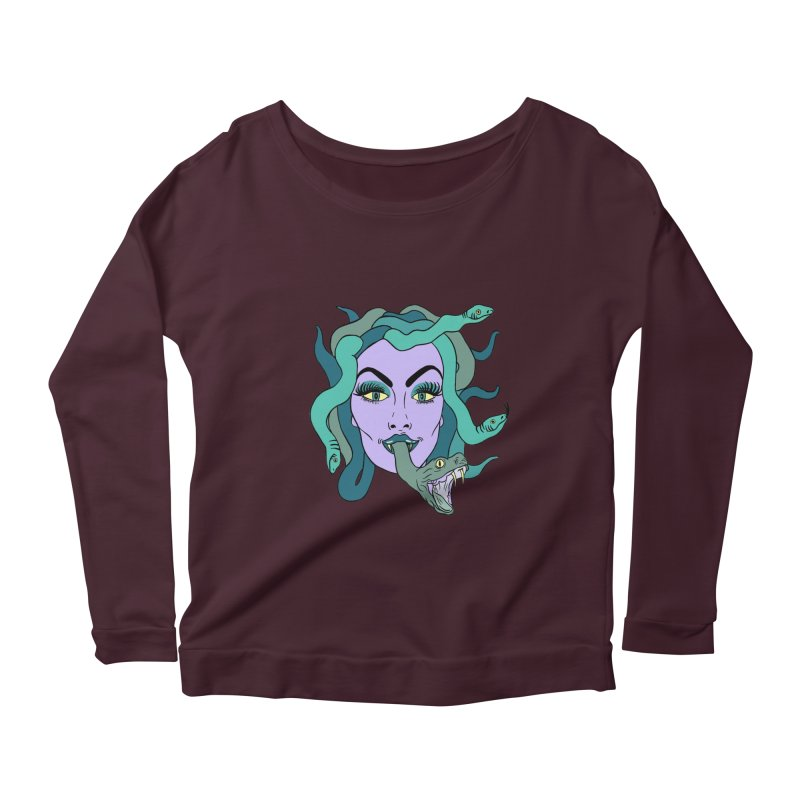 MEDUSA Women's Scoop Neck Longsleeve T-Shirt by Hate Baby Artist Shop