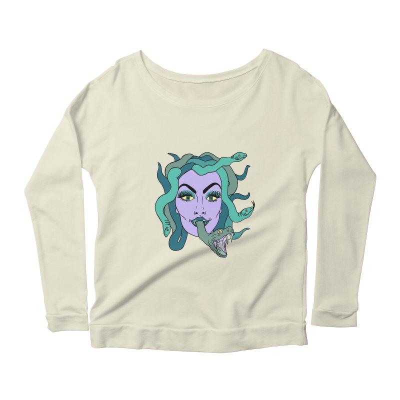 MEDUSA Women's Scoop Neck Longsleeve T-Shirt by Hate Baby Comix Artist Shop