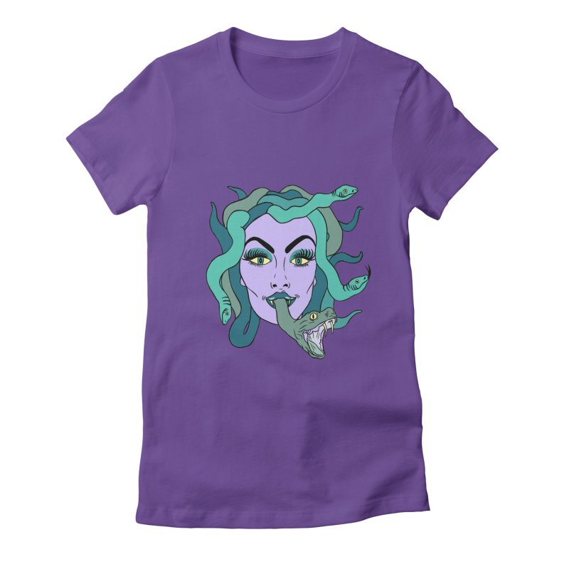 MEDUSA Women's Fitted T-Shirt by Hate Baby Artist Shop