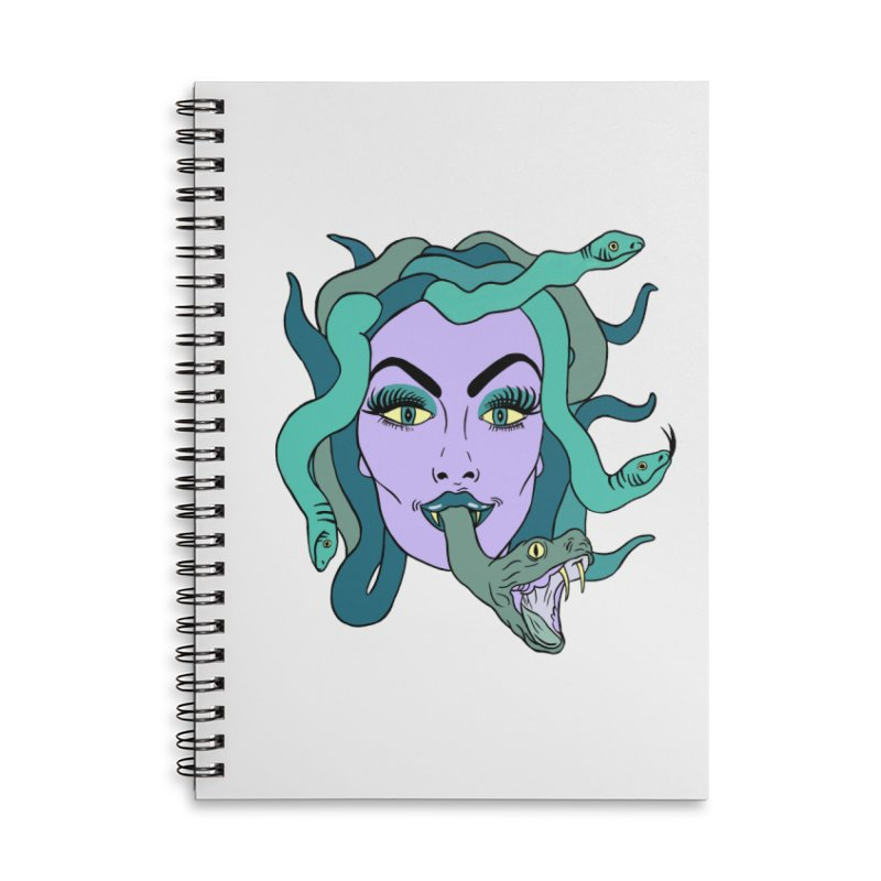 MEDUSA Accessories Lined Spiral Notebook by Hate Baby Comix Artist Shop