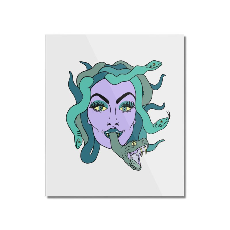 MEDUSA Home Mounted Acrylic Print by Hate Baby Comix Artist Shop