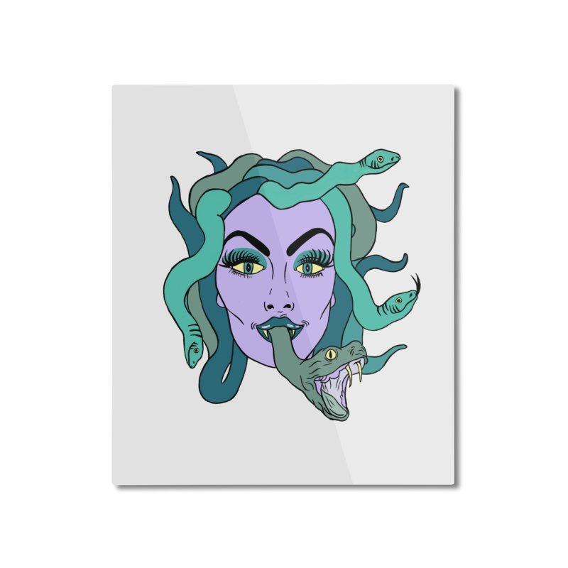 MEDUSA Home Mounted Aluminum Print by Hate Baby Comix Artist Shop