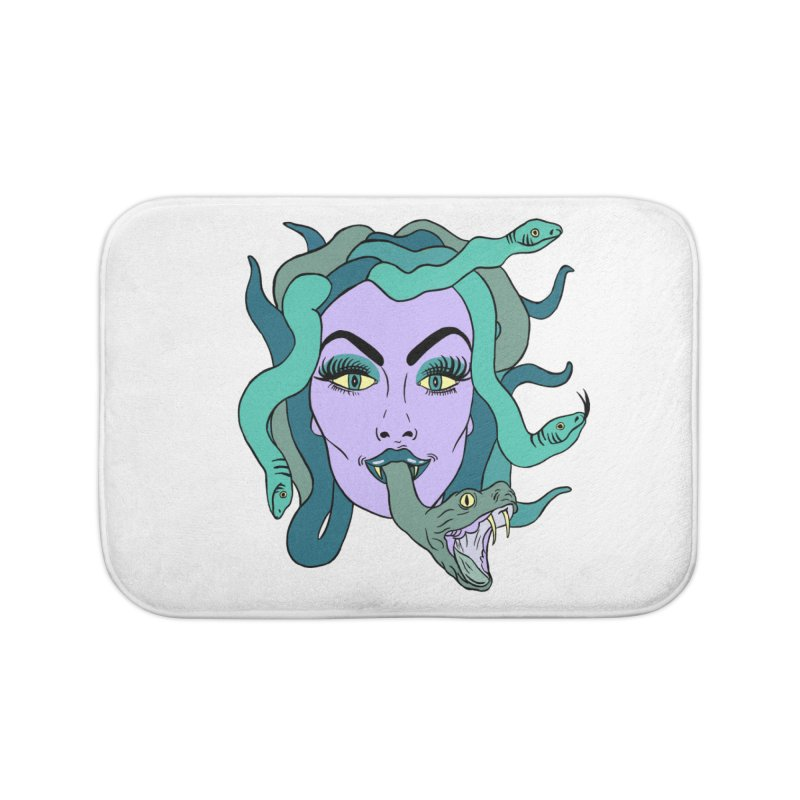 MEDUSA Home Bath Mat by Hate Baby Comix Artist Shop