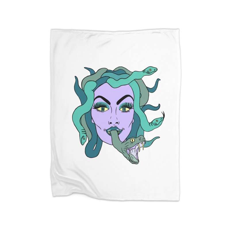 MEDUSA Home Fleece Blanket Blanket by Hate Baby Comix Artist Shop