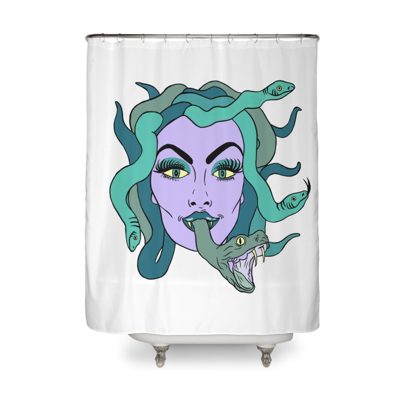 MEDUSA Home Shower Curtain by Hate Baby Comix Artist Shop