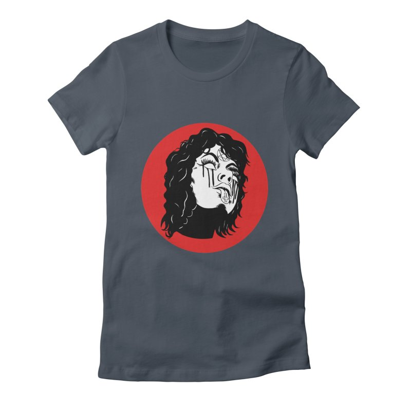 LUCIFER Women's Fitted T-Shirt by Hate Baby Artist Shop