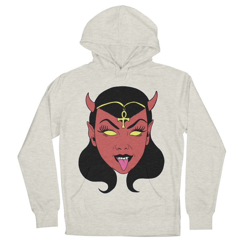 DEVIL GIRL Women's French Terry Pullover Hoody by Hate Baby Comix Artist Shop