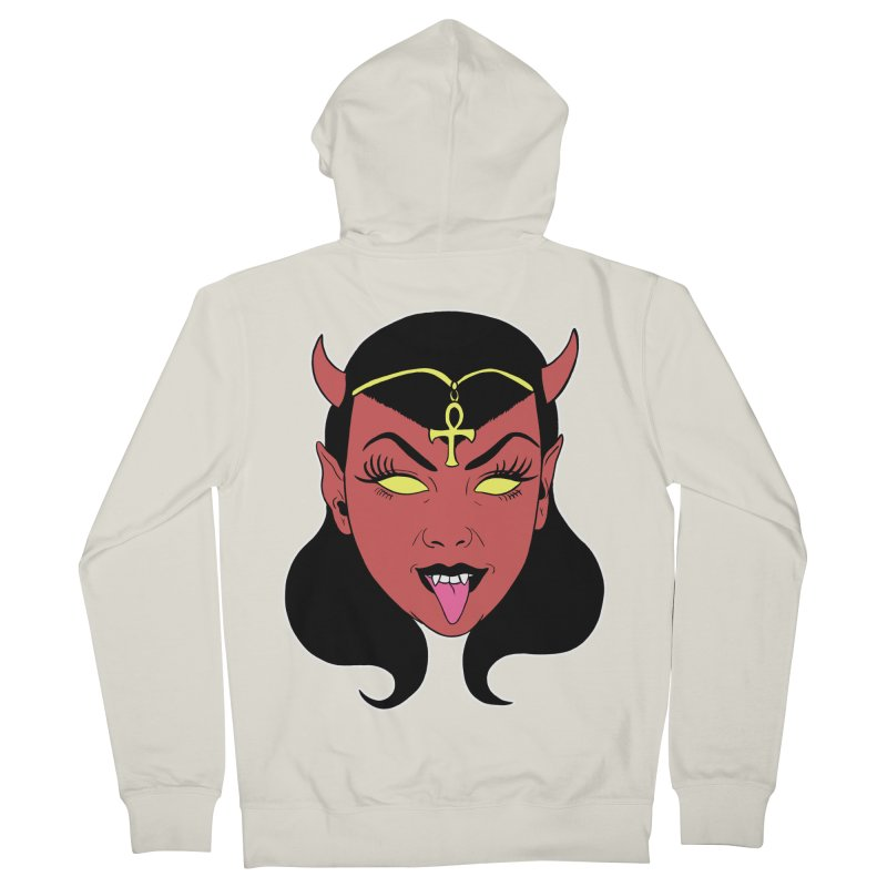 DEVIL GIRL Women's French Terry Zip-Up Hoody by Hate Baby Comix Artist Shop