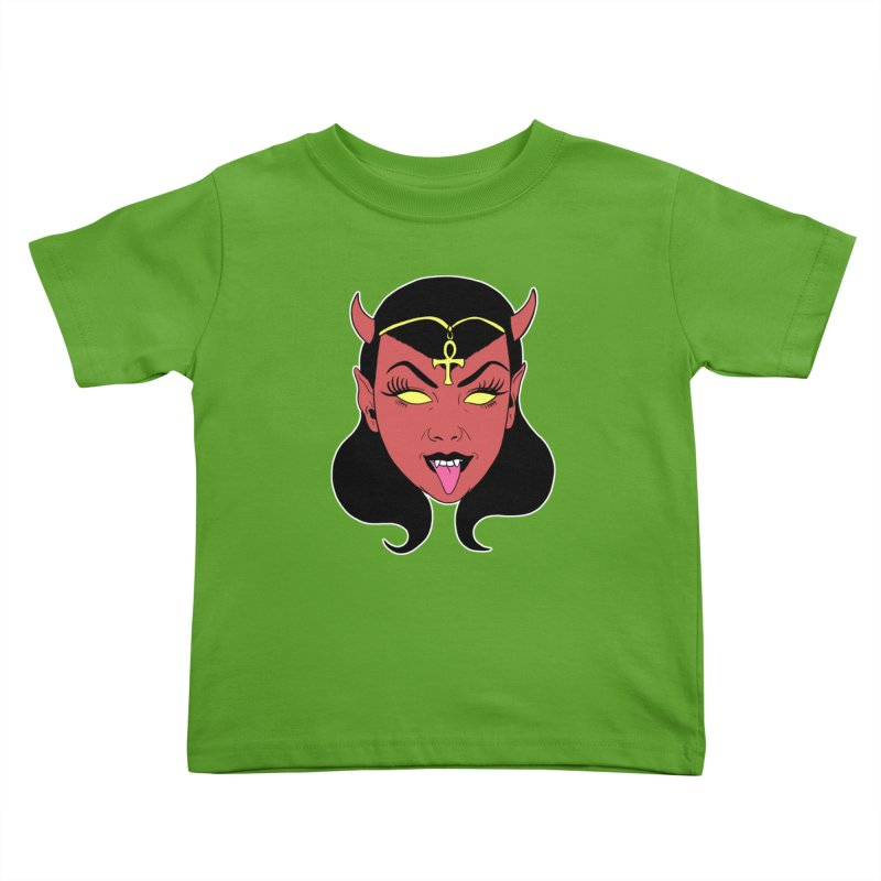 DEVIL GIRL Kids Toddler T-Shirt by Hate Baby Comix Artist Shop