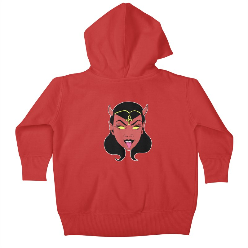 DEVIL GIRL Kids Baby Zip-Up Hoody by Hate Baby Comix Artist Shop