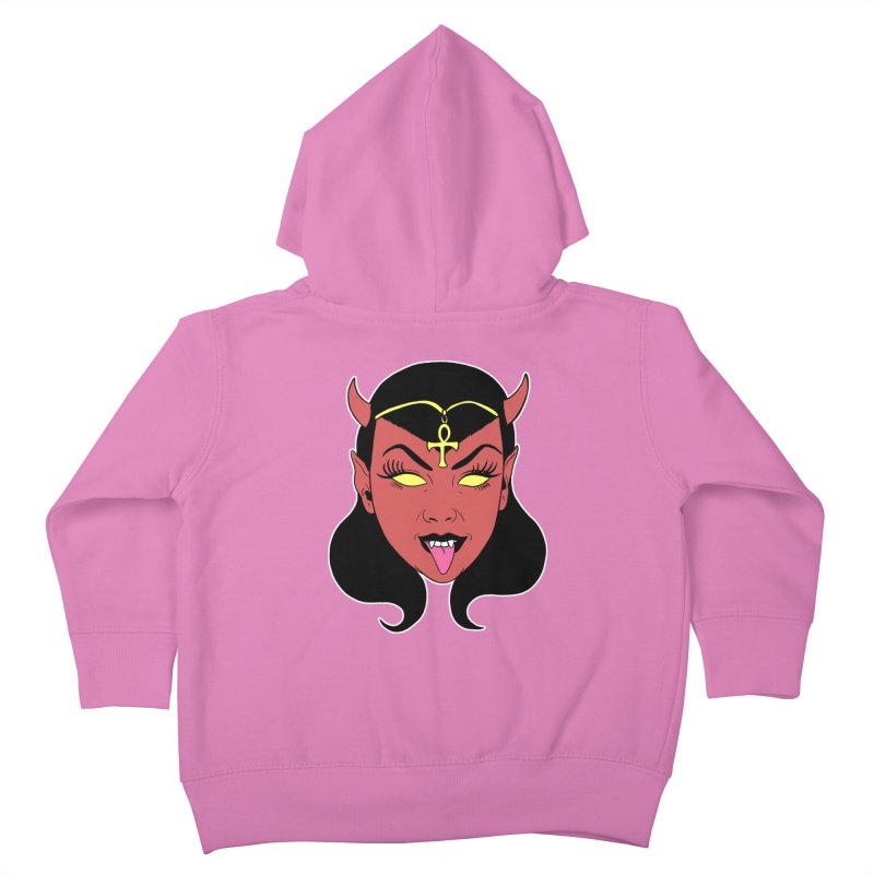 DEVIL GIRL Kids Toddler Zip-Up Hoody by Hate Baby Comix Artist Shop