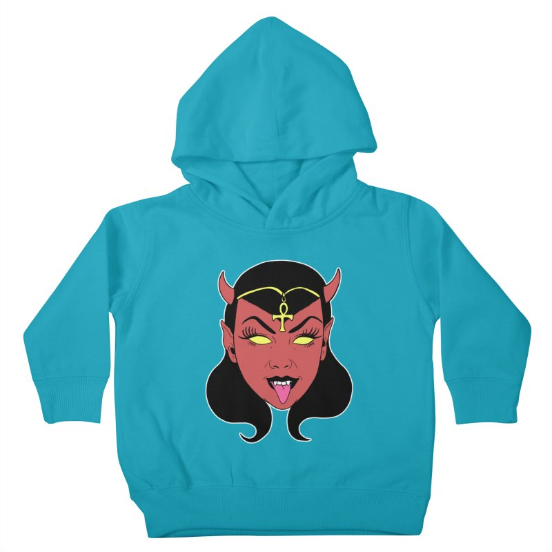 DEVIL GIRL Kids Toddler Pullover Hoody by Hate Baby Comix Artist Shop