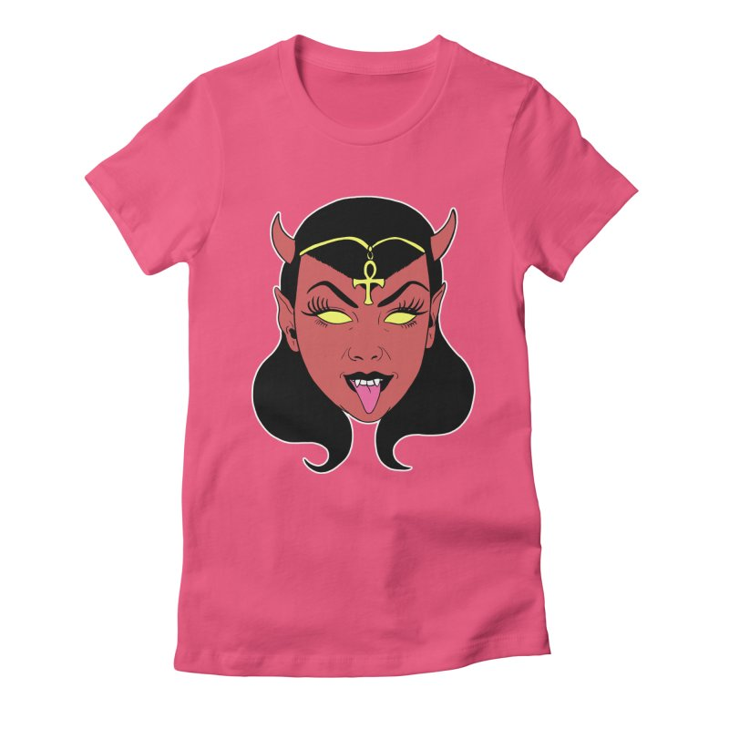 DEVIL GIRL Women's Fitted T-Shirt by Hate Baby Artist Shop