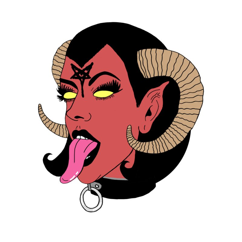 BAPHOMET BABE Home Mounted Aluminum Print by Hate Baby Comix Artist Shop