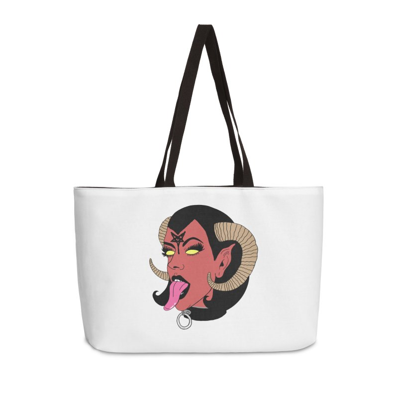 BAPHOMET BABE Accessories Weekender Bag Bag by Hate Baby Comix Artist Shop