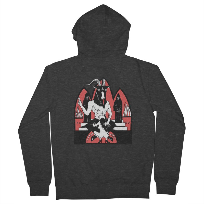 HAIL Men's French Terry Zip-Up Hoody by Hate Baby Comix Artist Shop