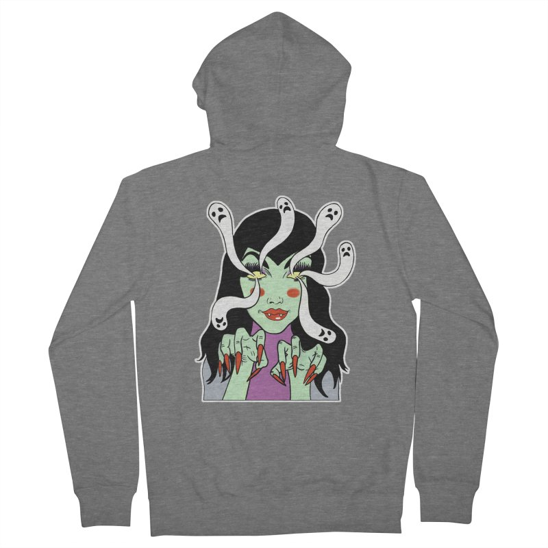 LAMIA Men's French Terry Zip-Up Hoody by Hate Baby Comix Artist Shop