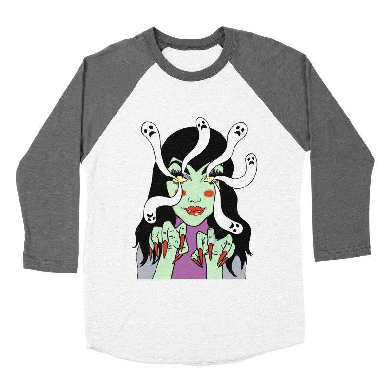 LAMIA Men's Baseball Triblend Longsleeve T-Shirt by Hate Baby Comix Artist Shop