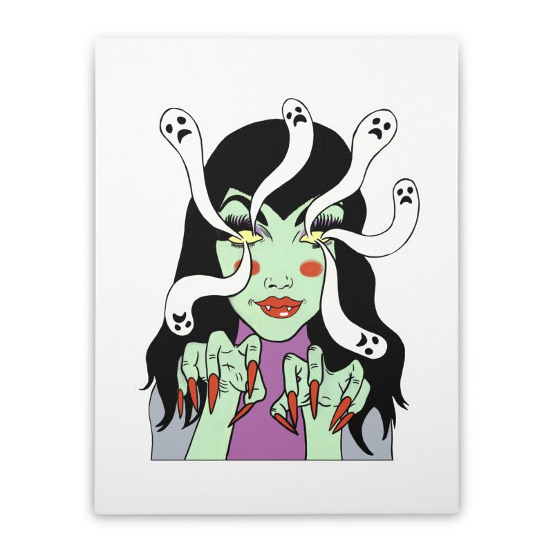 LAMIA Home Stretched Canvas by Hate Baby Comix Artist Shop