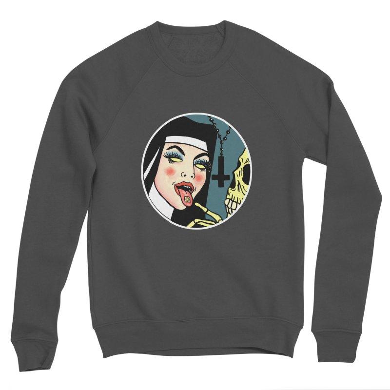 ACID NUN Women's Sponge Fleece Sweatshirt by Hate Baby Comix Artist Shop