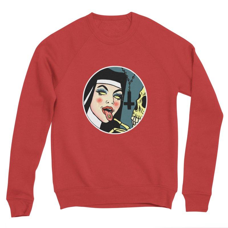 ACID NUN Men's Sponge Fleece Sweatshirt by Hate Baby Comix Artist Shop