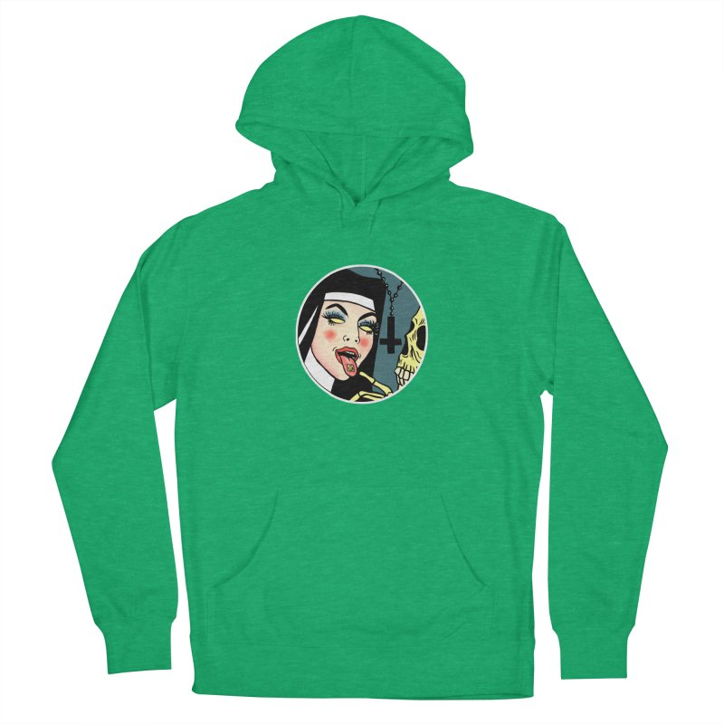ACID NUN Women's French Terry Pullover Hoody by Hate Baby Comix Artist Shop