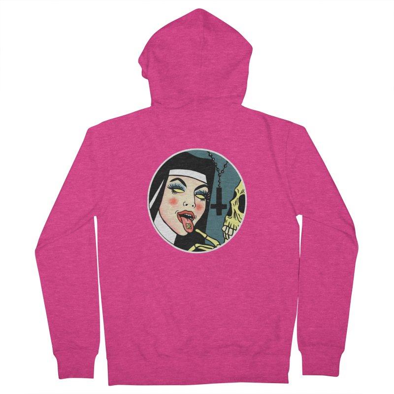 ACID NUN Women's French Terry Zip-Up Hoody by Hate Baby Comix Artist Shop