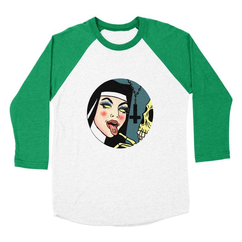 ACID NUN Women's Baseball Triblend Longsleeve T-Shirt by Hate Baby Comix Artist Shop