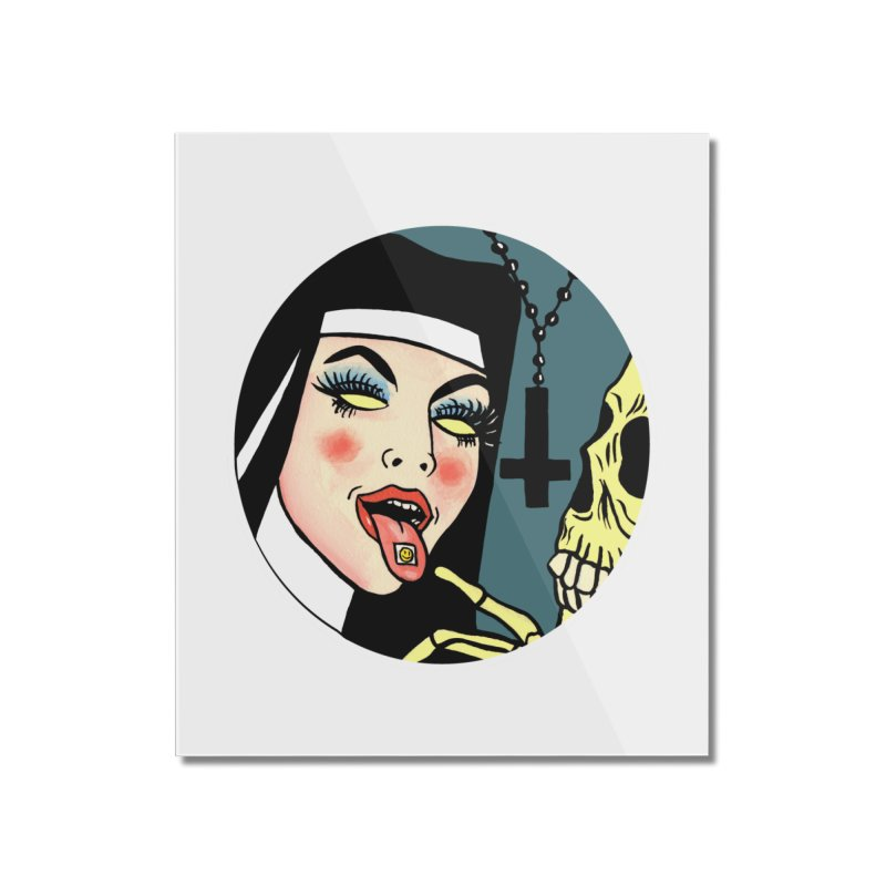 ACID NUN Home Mounted Acrylic Print by Hate Baby Comix Artist Shop