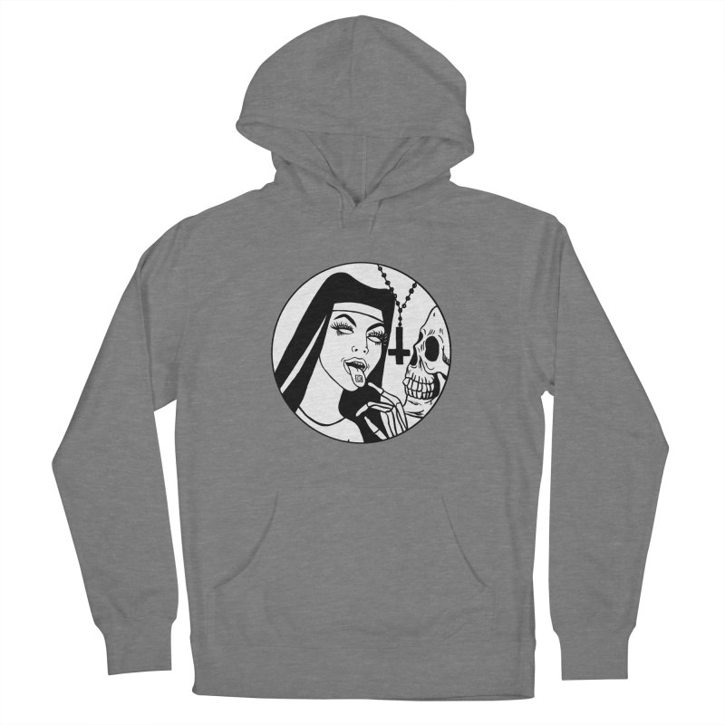 ACID NUN BLACK AND WHITE Women's Pullover Hoody by Hate Baby Comix Artist Shop