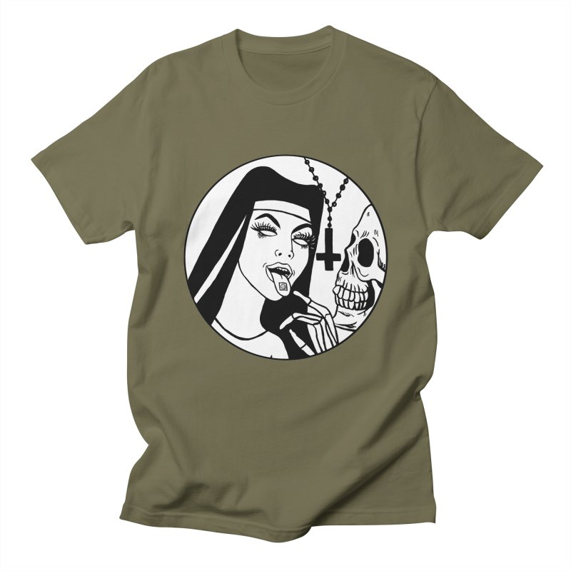 ACID NUN BLACK AND WHITE Men's Regular T-Shirt by Hate Baby Comix Artist Shop