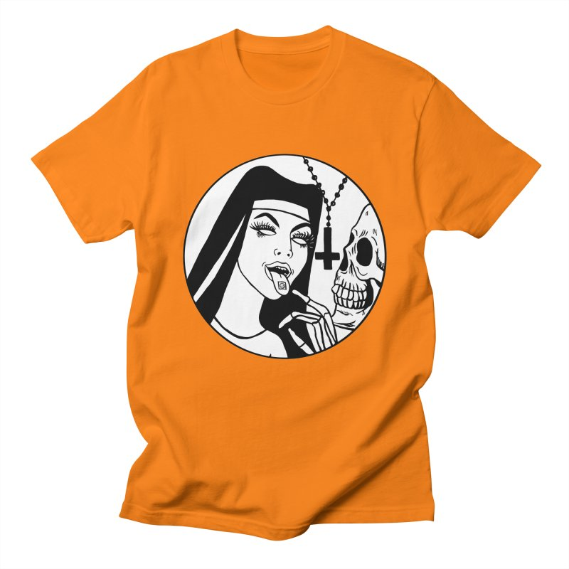 ACID NUN BLACK AND WHITE Men's Regular T-Shirt by Hate Baby Comix Artist Shop