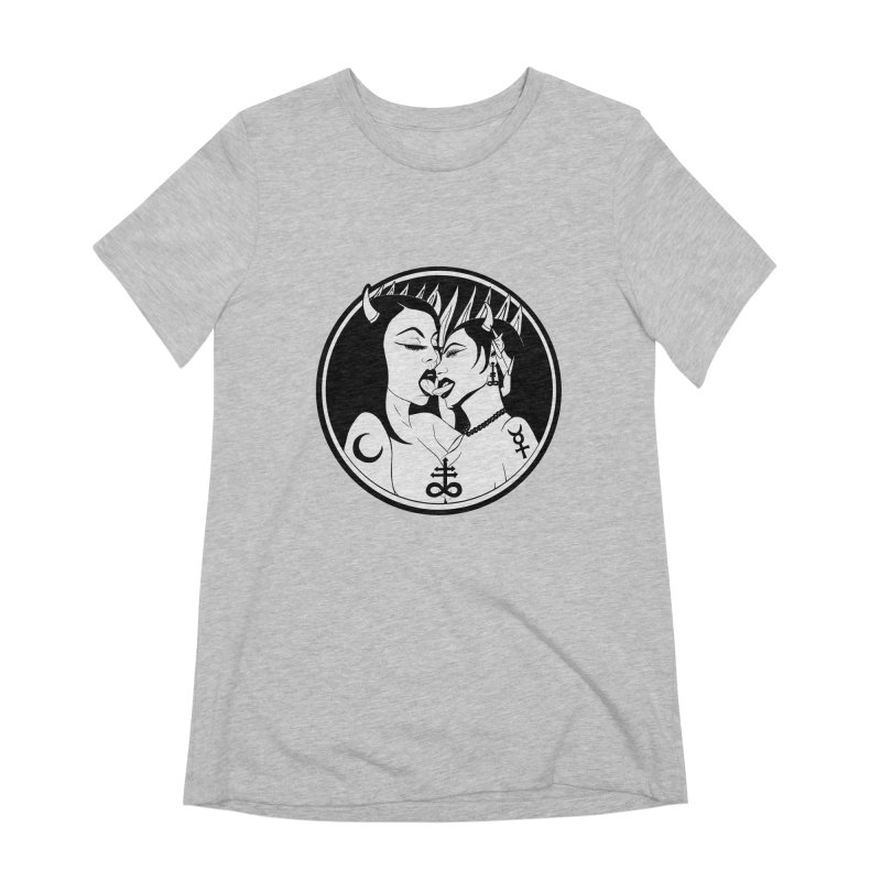 DEVILS KISS Women's Extra Soft T-Shirt by Hate Baby Comix Artist Shop