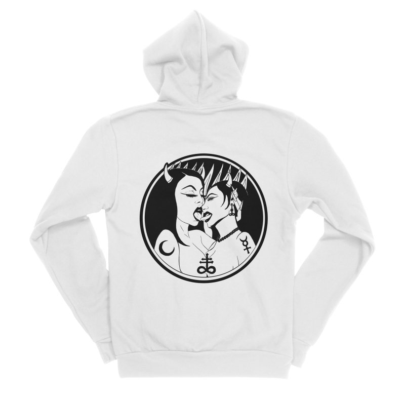 DEVILS KISS Men's Sponge Fleece Zip-Up Hoody by Hate Baby Comix Artist Shop