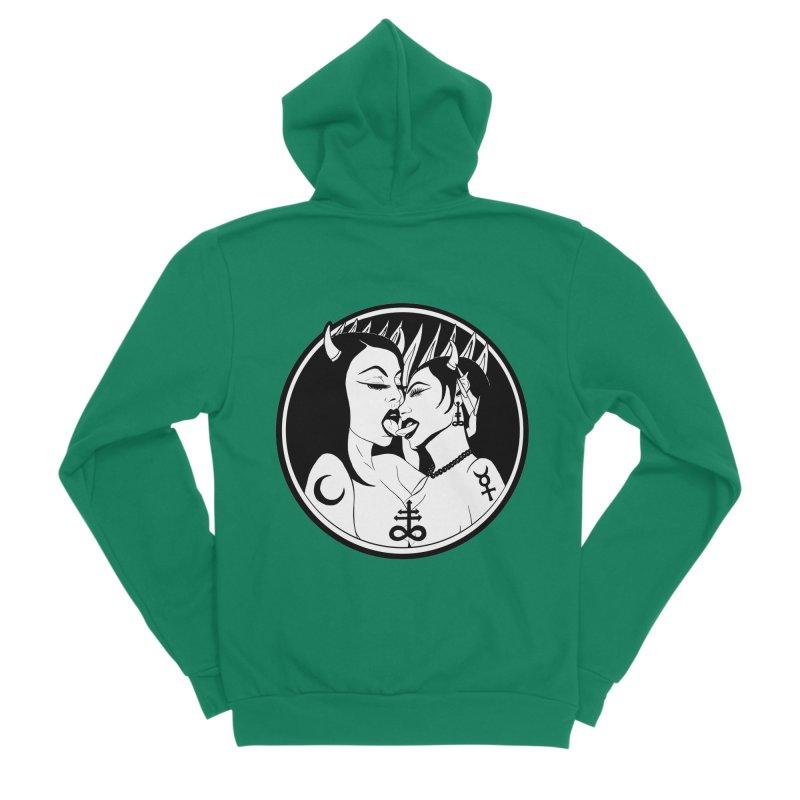 DEVILS KISS Men's Sponge Fleece Zip-Up Hoody by Hate Baby Comix Artist Shop