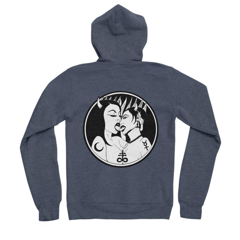 DEVILS KISS Women's Sponge Fleece Zip-Up Hoody by Hate Baby Comix Artist Shop